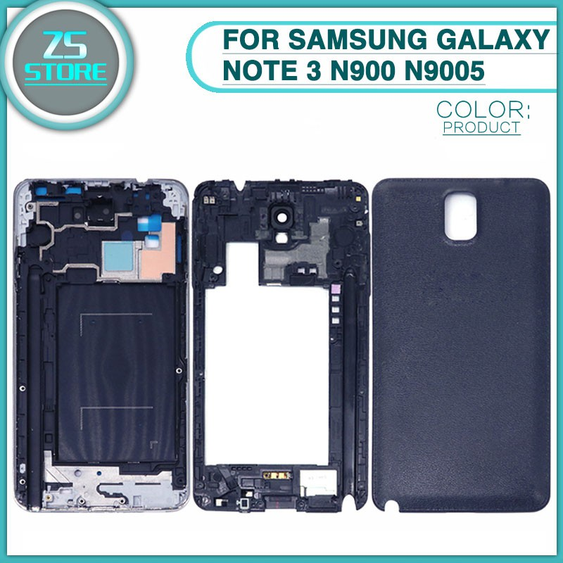 Note 3 Full Housing For Samsung Galaxy N900 N9005 Front Middle Board Back  Door