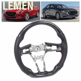 Carbon Fiber Gorgeri Car Steering Wheel Sticker,Steering Wheel Cover Fit for Mustang Car 2015 2016 2017 Auto Accessory