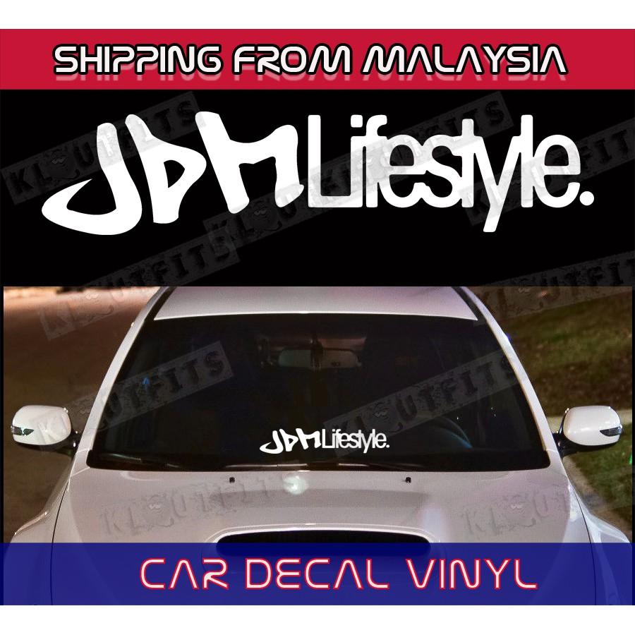 Jdm lifestyle stickers windscreen car bumper hood cermin door proton myvi honda shopee malaysia
