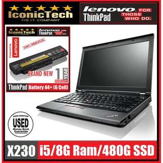 IBM Lenovo ThinkPad X230 i5/8G/512G-SSD /New Ori 6cell