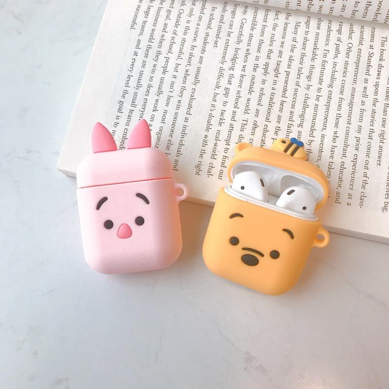 Cute AirPods Silicon Case ซิลิโคนเคสหูฟัง เคสซิลิโคนนุ่ม กันฝุ่น สำหรับ Winnie the Pooh p