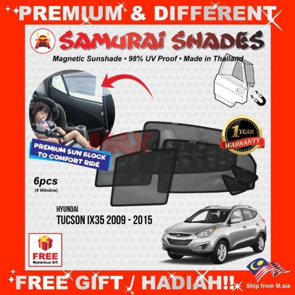 [FREE Gift] HYUNDAI TUCSON IX35 2009 - 2015 SAMURAI MAGNETIC SUNSHADE
