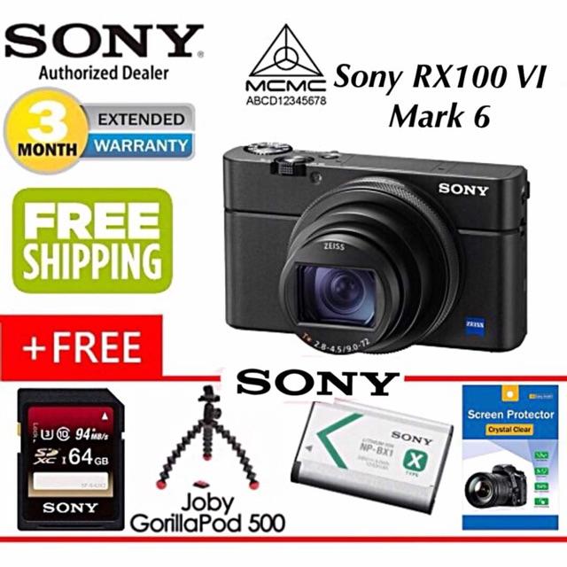 Sony RX100 VI Mark 6 original Sony malaysia official warranty