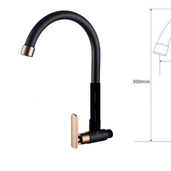 Tap Kitchen Sink Tap Latina Rose Gold Series Pillar Type