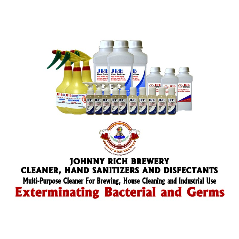 1 Box 10 X 900 ml JRB Antibacterial Multi-Purpose Cleaner JUST SPRAY AND WIPE or AIR DRY! Kills 99.9% of bacteria