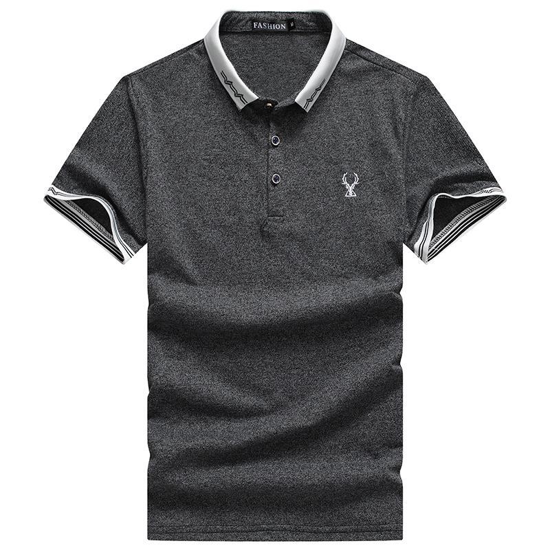 6ea03a40ca122c Men's casual printed T-shirt short sleeve lapel polo shirt M-4XL | Shopee  Malaysia
