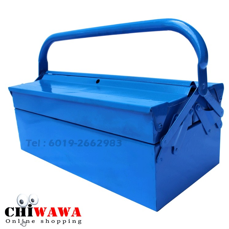 Metal Cantilever 2 Tiers 3 Trays Steel Tool Box Storage