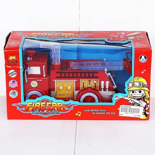 Bump & Go Rescue FIRETRUCK Toy with Light & FREE BATTERY FIRE TRUCK TOYS CAR FOR KIDS LORI BOMBA.