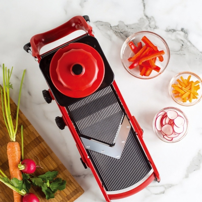 Multifunctional Fruit Vegetable Cutter Food Shredder (LOVE RED)