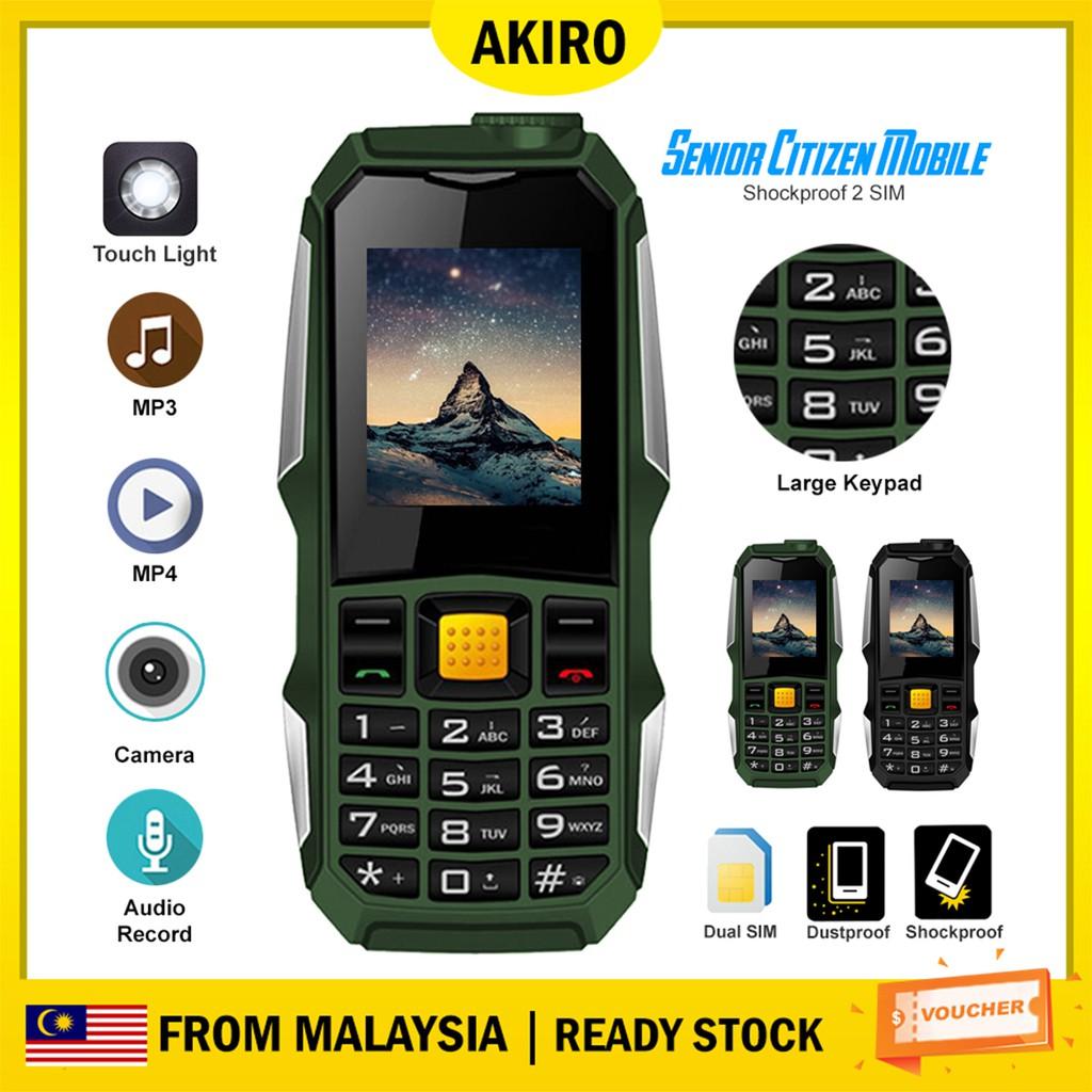Shockproof 2 SIM Senior Citizen Mobile Keypad Backup Phone 01
