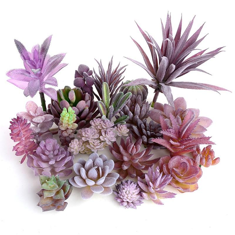 Artificial Succulents Plastic Plant Fake Cactus Floral Garden Home Office Decor.