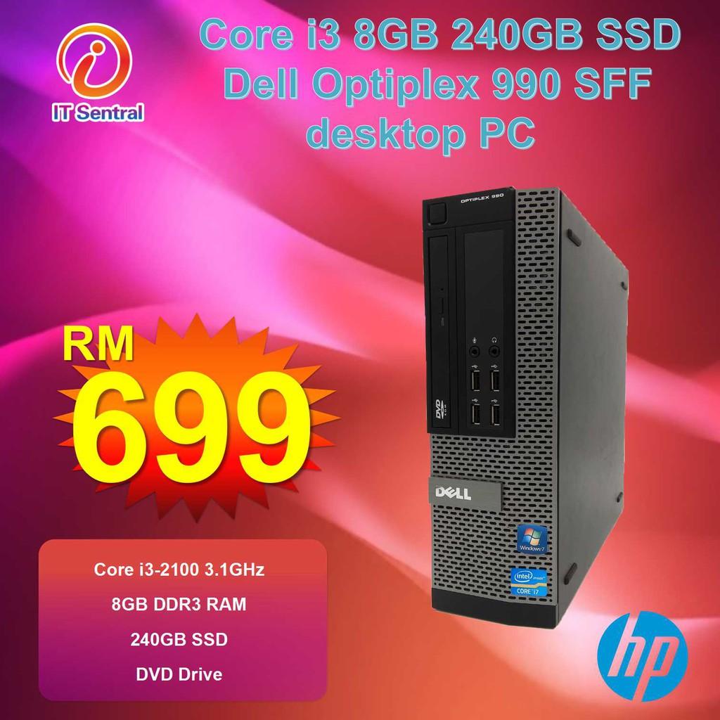 CHEAP 16GB RAM 240GB SSD Dell Core i3 Optiplex 990 SFF