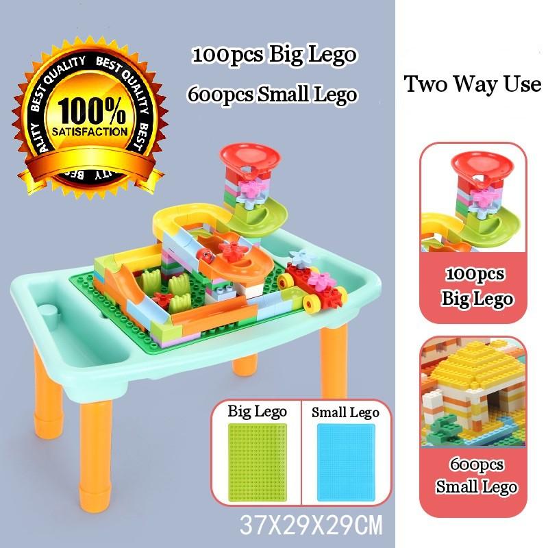 [ READY STOCK ]  Building Block Toy Table Compatible Marble Race Run Maze Ball Track Lego Budak Mainan Jualan Murah Baby