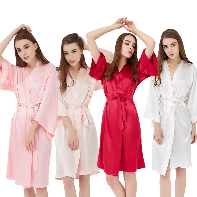 Cute Women Robe Soft Robes Satin Dress Wedding Robe Bathrobe Flannel Siamese Cap