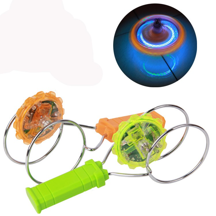 SUPER Magic Spinning Top Gyro Spinners Laser LED Music Flash Light Kids Toy Gift
