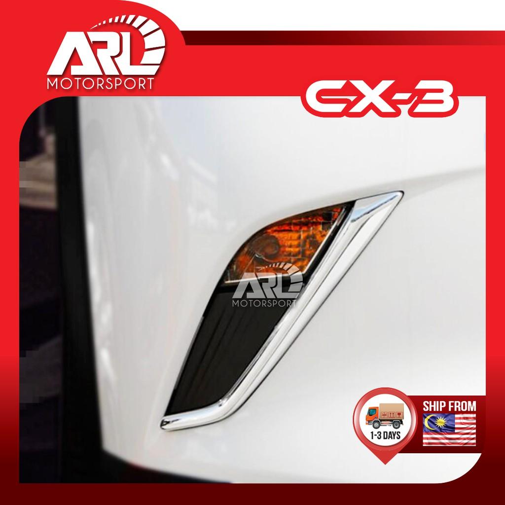 Mazda CX3 CX-3 Fog Lamp Lining Chrome Cover Granish Car Auto Acccessories ARL Motorsport