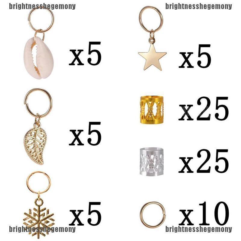 10 Pcs RetroTibetan Silver Beads Braids Accessories Charms Jewelry Dreadlocks