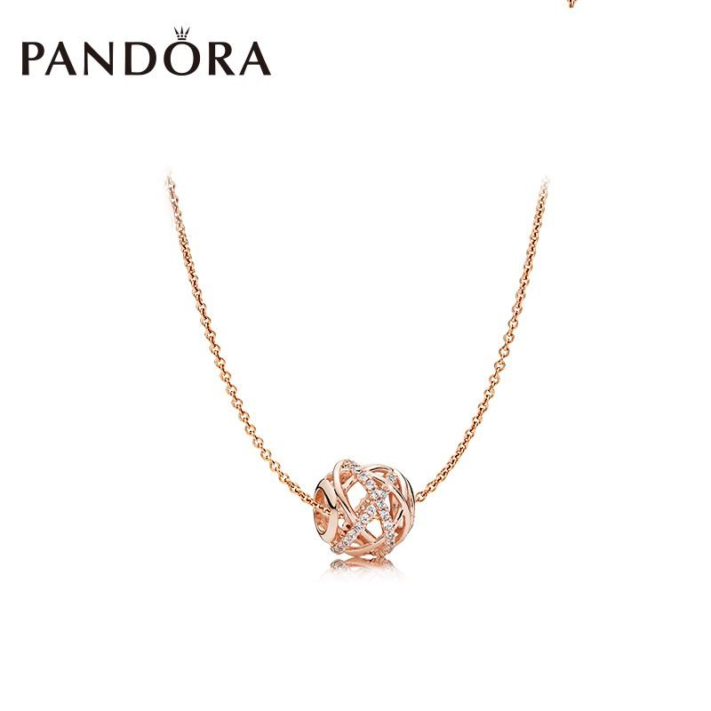 ffbf332db [100% original]PANDORA rose gold vintage charm necklace 380523CZ clavicle  chain | Shopee Malaysia