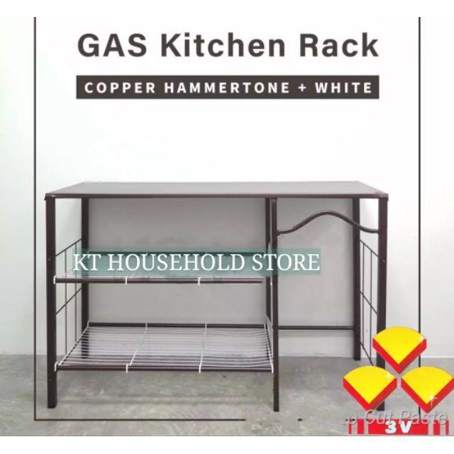 4ft 3V Metal kitchen stove rack / gas rack / cooking table / rak dapur/ rak  memasak