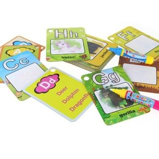 LEARNING ENGLISH MAGIC CARD DRAWING BOARD TODDLER KIDS CHILDREN FAST SKILL  JAPAN