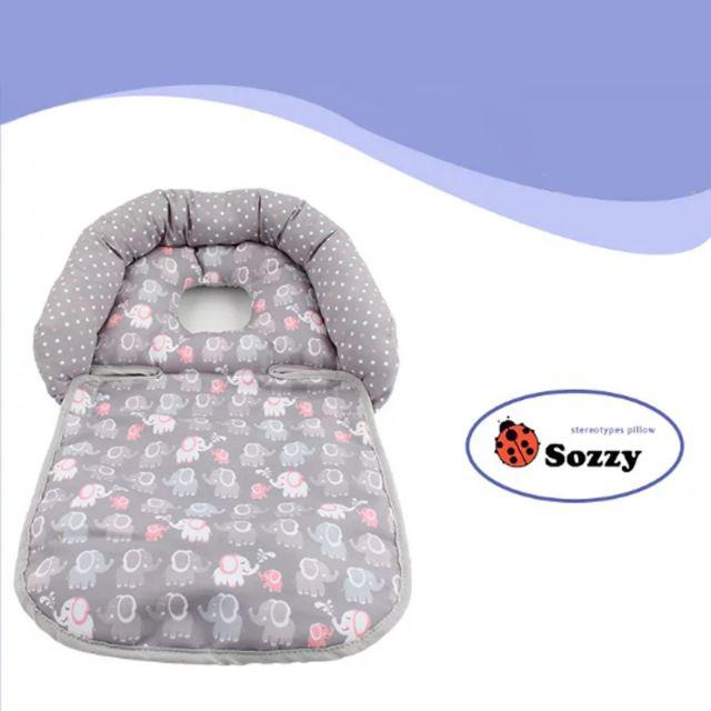 [ READY STOCK ]  Newborn Infant Baby Stereotype Pillow Folding Pillow For Baby Stroller  Rocker Neck Head Protection