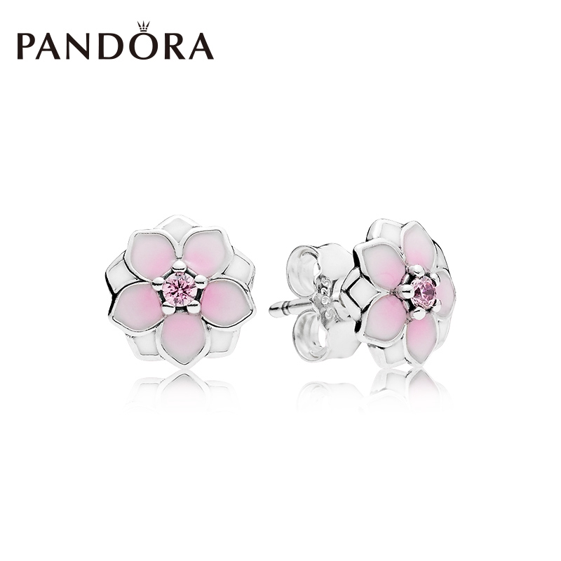 d43e5fd7f Original PANDORA Magnolia Earrings 290739PCZ Fashion Personality Simple  Woman | Shopee Malaysia
