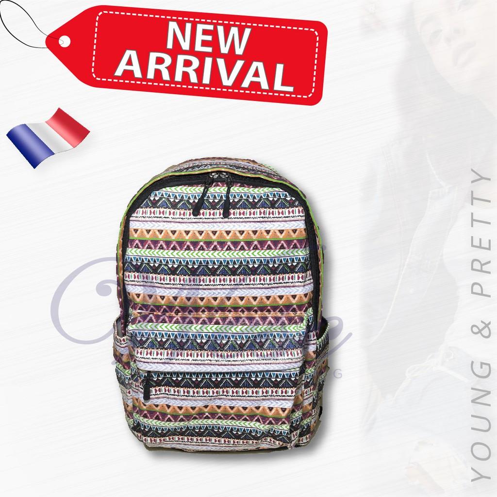 French Designer Fashion Backpack / Stylish Bag / Travel Bag (Design 2)