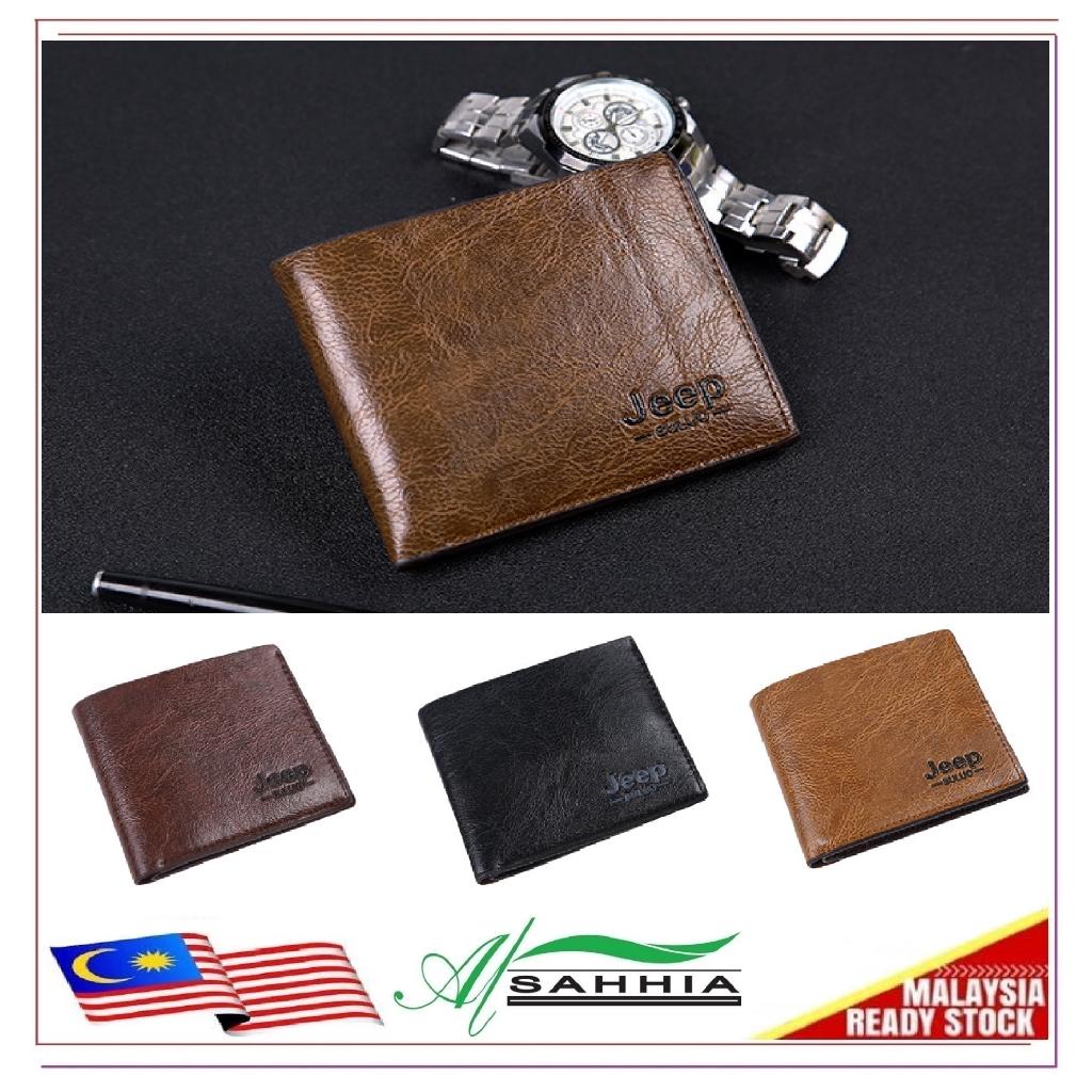 54b34eae4a95 15W5 Al Sahhia Short Jeep Buluo Purse Leather Men Wallet Professional
