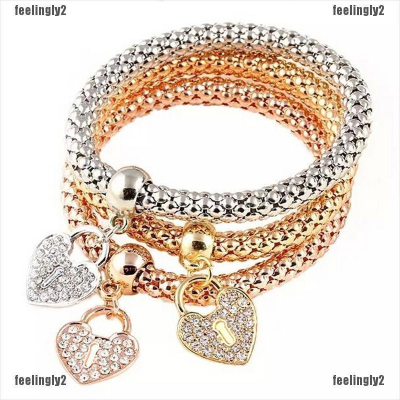3X Women Sweet Charm Cystal Cherry Bowknot Stud Earrings Rhinestone Earings  .