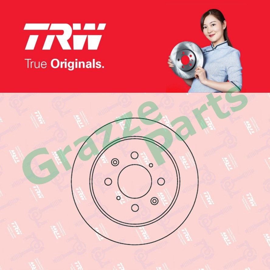 (2 pcs) TRW Disc Brake Rotor Rear for DF7375 Honda City TMO 2002-2008 (238.8mm)