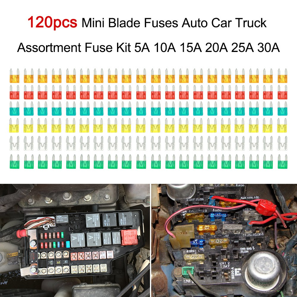 New 120pc  Mini Auto Car Blade SUV Fuse Box ASSORTMENT FUSES