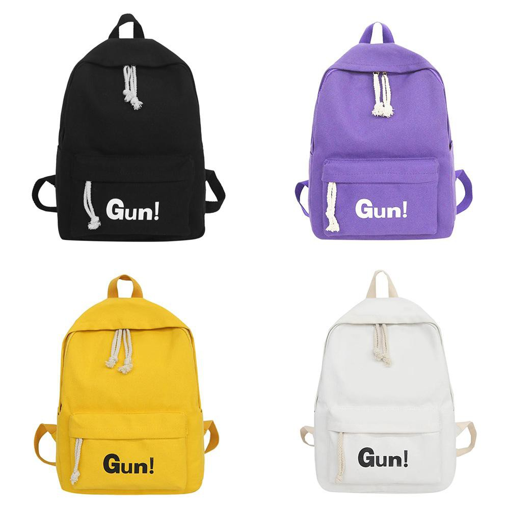 8b05ba5cbc8 Preppy Women Girl Casual Backpacks Canvas Travel Shoulder School Bookbags