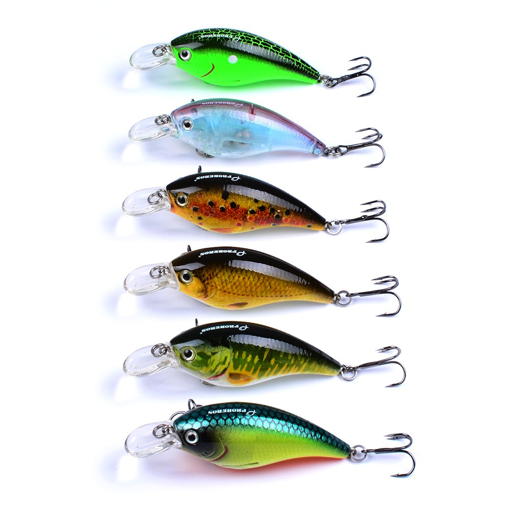 6pc Fishing Lures jig jigging Large Frog Cut Top bait Hooks Bait Tackle 13g#