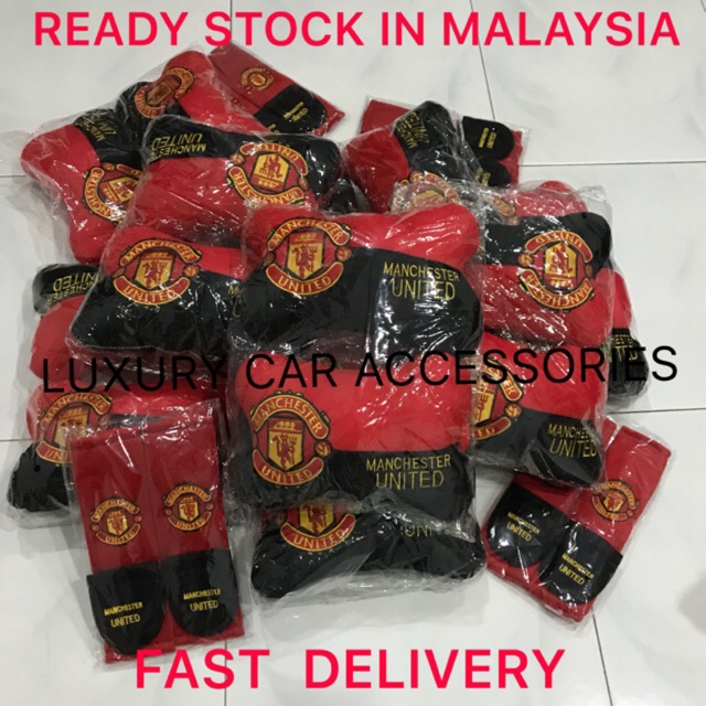 In Stock Mu Manchester United Cushion Seat Pillow Safety Belt