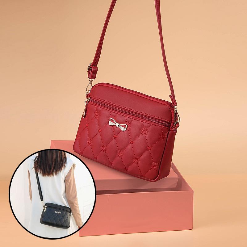 GDeal Women Fashion Heart Embroidered Satchel Bag Large Capacity Polyester Shoulder Bag Crossbody Bag