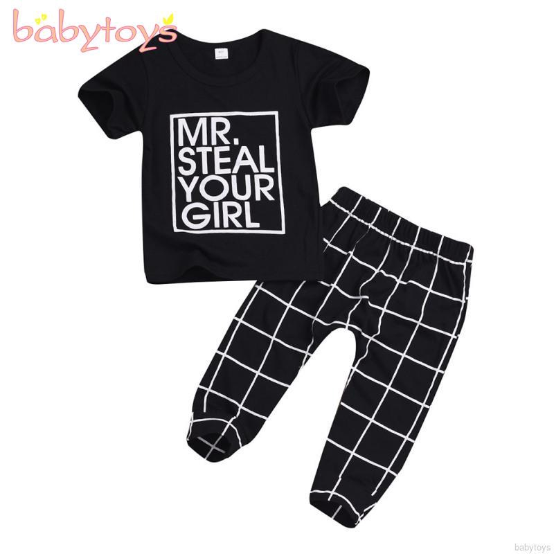Baby Boy Girl Tops Shirt Mr.Steal Your Girl Toddler Hooded Sweater Casual Hoodies with Pocket Black Outfit 0-4T