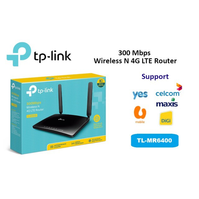 Latest APAC Version | TP-LINK TL-MR6400 300MBPS WIRELESS N 4G LTE ROUTER  tplink