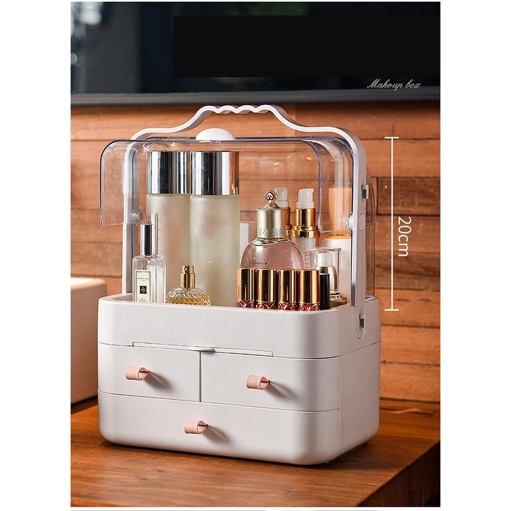 AMG Women Beauty Cosmetic Storage Box Waterproof Dustproof Large Makeup  Organizer Makeup Storage Box BMB-P | Shopee Malaysia