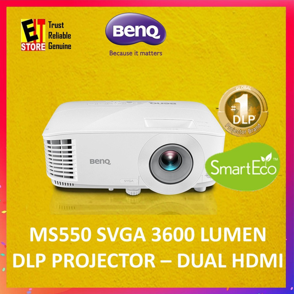 BENQ MS550 3600lm SVGA BUSINESS PROJECTOR (3600 LUMENS/HDMIX2)