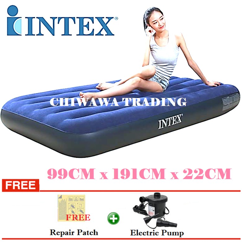 PROMOTION 64757  INTEX Inflatable Bubble Air Mattress Relax Massage Air Bed Sofa