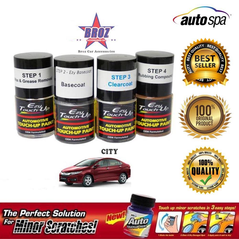 Auto Touch Up Paint >> Autospa Touch Up Paint Honda City 3pcs Set Base Coat Solvent Clear Coat