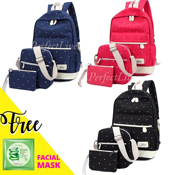 Canvas Chest Bag Magical Sweets Casual Shoulder Backpack for Men Women