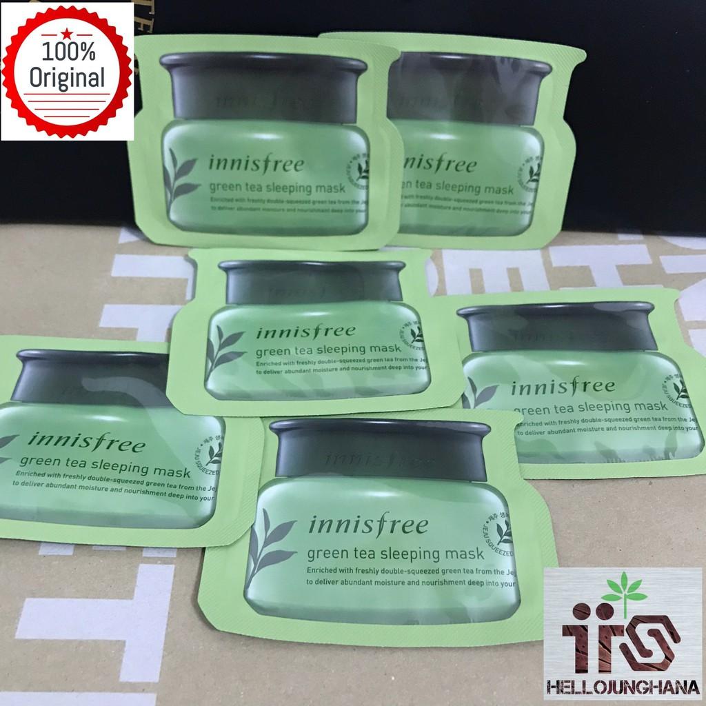 Innisfree Green Tea Sleeping Mask Sample 4ml Shopee Malaysia Pack