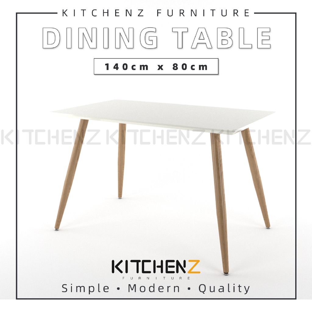 Kitchenz Modern Contemporary Dining Table-HMZ-FN-DT-JT01(14080)-WT