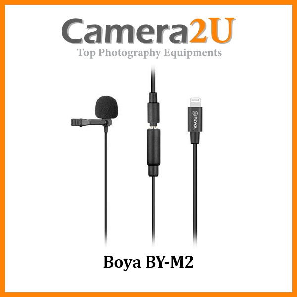 READY STOCK Boya BY-M2 BYM2 Lavalier Microphone Clip Mic for Apple lightning iOS device