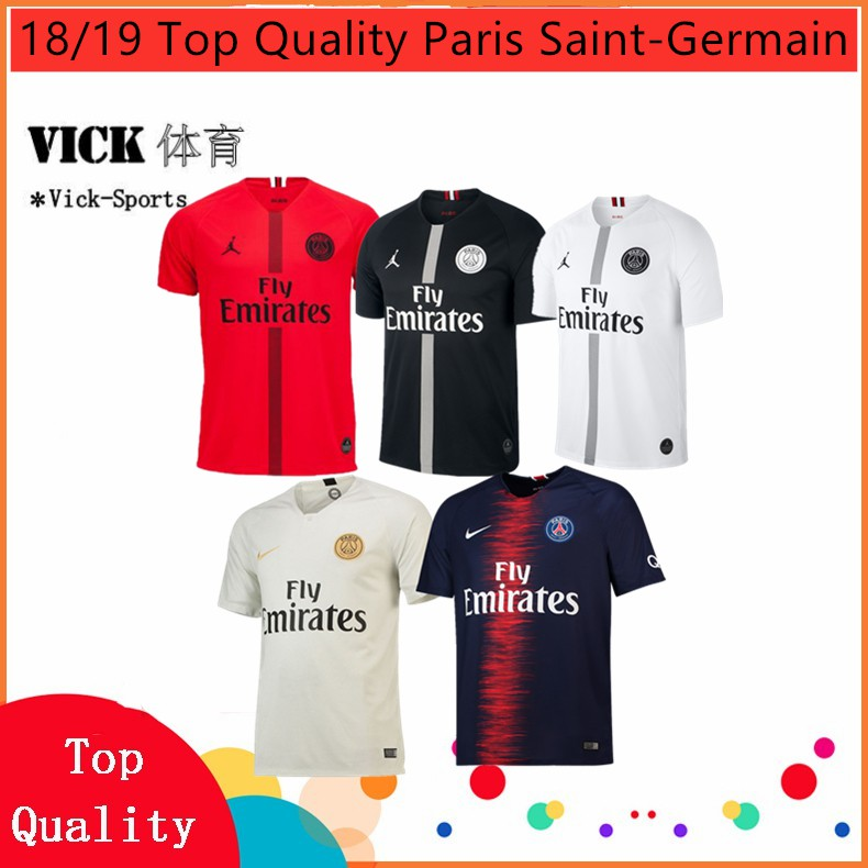 edec15f80d0 2019 Newest PSG Jordan Paris Saint-Germain 3rd Away Football Jersey Black |  Shopee Malaysia