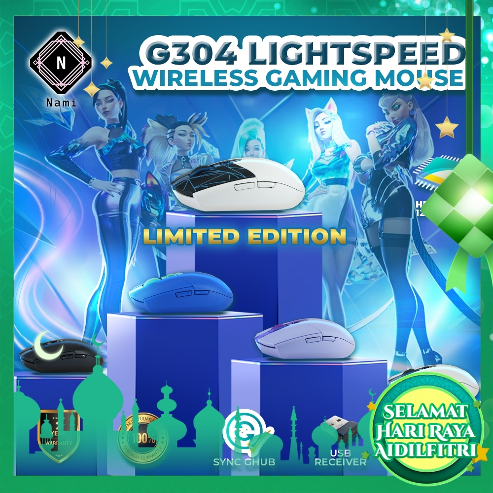 Logitech G304 Lightspeed Wireless Gaming Mouse (EXTRA Protection + Fragile Sticker)