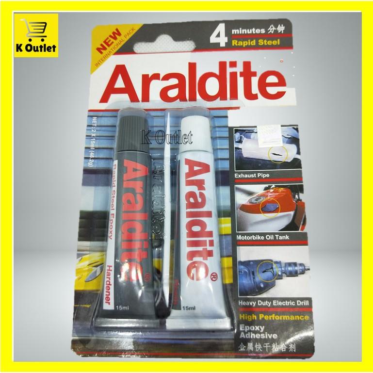 2 X 15ml Araldite 4 Minutes Rapid Steel