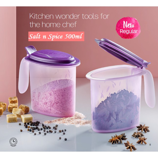 Tupperware Salt N Spice 500ml  (1pc or 2pcs)