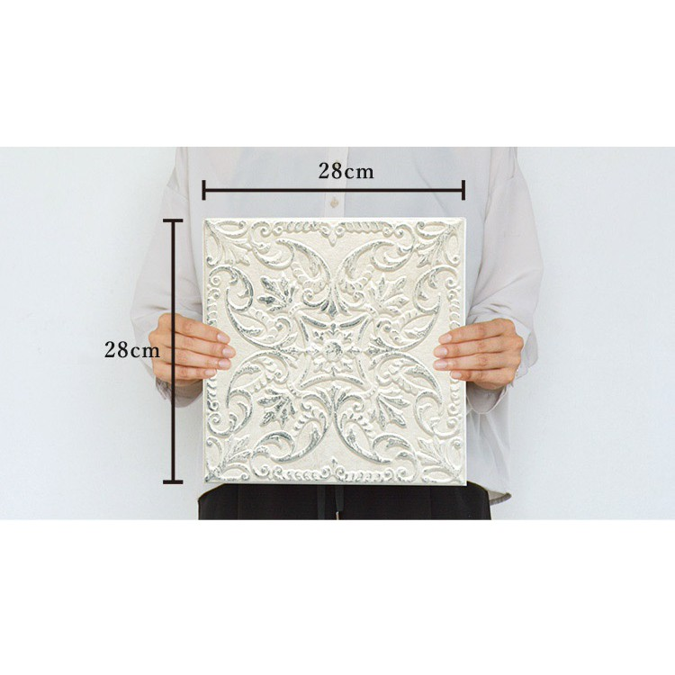 [Ready Stock] 28cm x 28cm MANHATTAN FOAM Wall Tile Cushion Panels Peel and Stick Foam Jubin Dinding / Wainscoting
